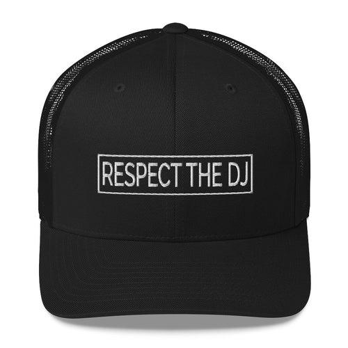 Respect The DJ White Logo Trucker Cap