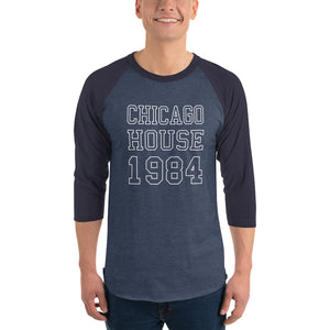Chicago House Varsity Unisex 3/4 sleeve raglan shirt
