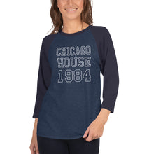 Load image into Gallery viewer, Chicago House Varsity Unisex 3/4 sleeve raglan shirt
