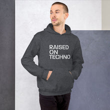 Load image into Gallery viewer, Raised On Techno Unisex Hoodie