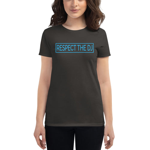 Respect The DJ Women's Blue Logo T-shirt (short sleeve)