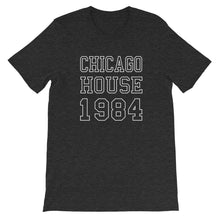 Load image into Gallery viewer, Chicago House Varsity Unisex T-Shirt (Short-Sleeve)