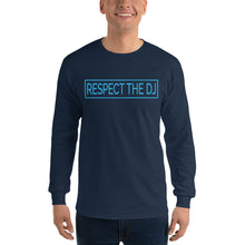 Load image into Gallery viewer, Respect The DJ Blue Logo Men's Long Sleeve Shirt
