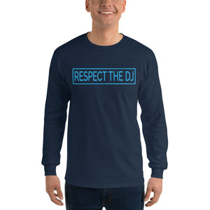 Respect The DJ Blue Logo Men's Long Sleeve Shirt