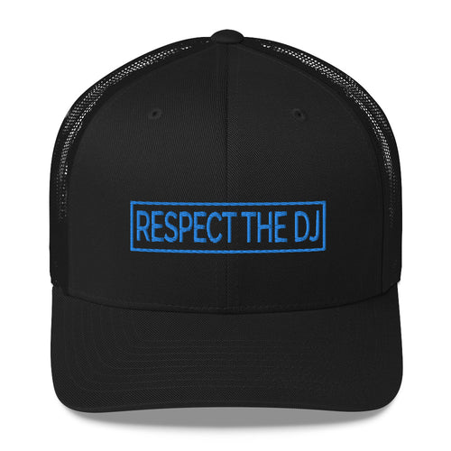 Respect The DJ Blue Logo Trucker Cap