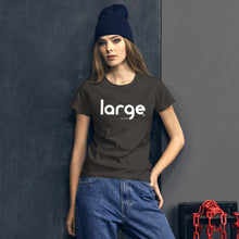 Load image into Gallery viewer, Large Music Women's T-shirt (Short Sleeve)