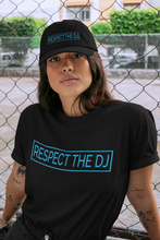 Load image into Gallery viewer, Respect The DJ Blue Logo Unisex T-Shirt (Short-Sleeve)
