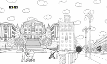 Load image into Gallery viewer, Pes-Pes Coloring Book of Buildings