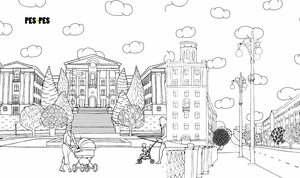 Pes-Pes Coloring Book of Buildings