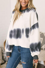 Women's Color Block Sweatshirt Round Neck Pullover