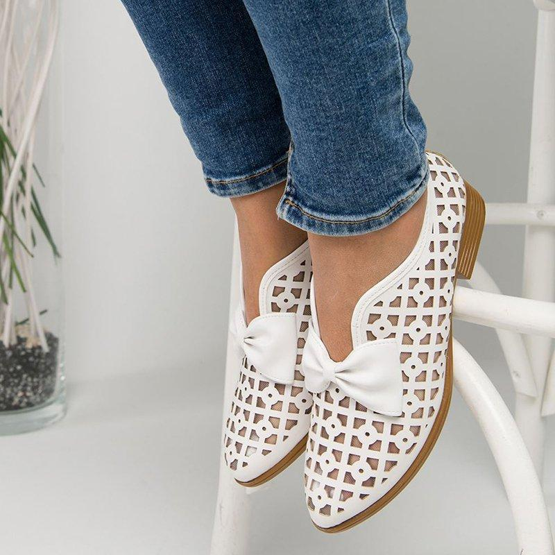 Openwork Bow Knot Flats