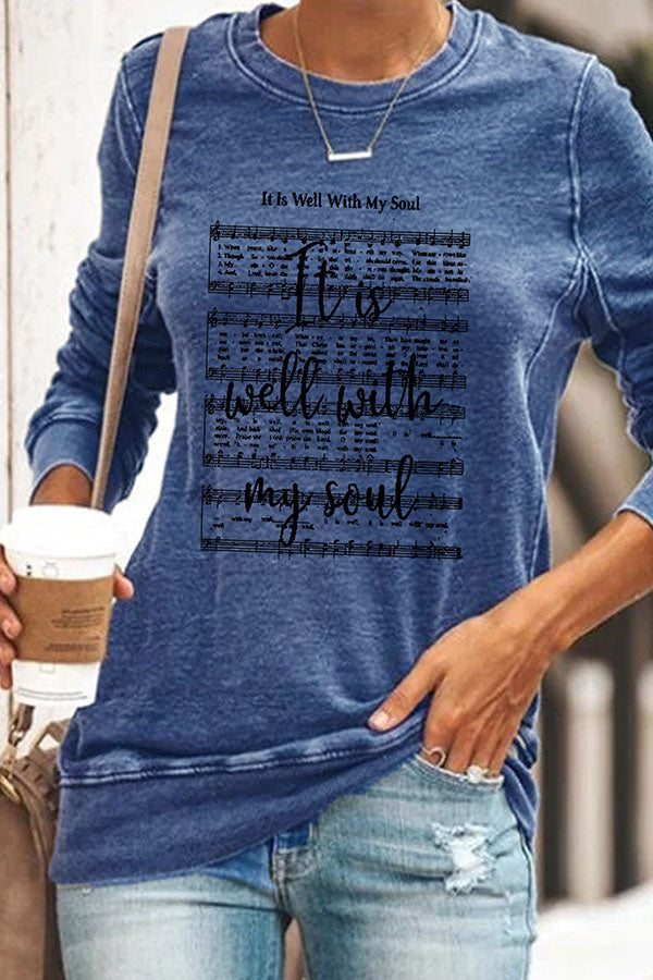 It Is Well With My Soul Christmas Movement Print T-shirt