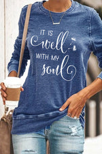 It Is Well With My Soul Print Women Basic T-shirt