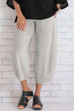 Solid Casual Side Pockets Pants