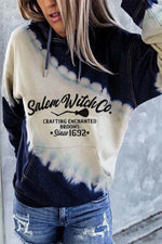 Salem Witch Crafting Enchanted Brooms Since 1692 Jacquard Gradient Color-block Hoodie