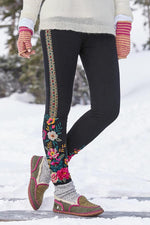 Vintage Embroidery Casual Pants