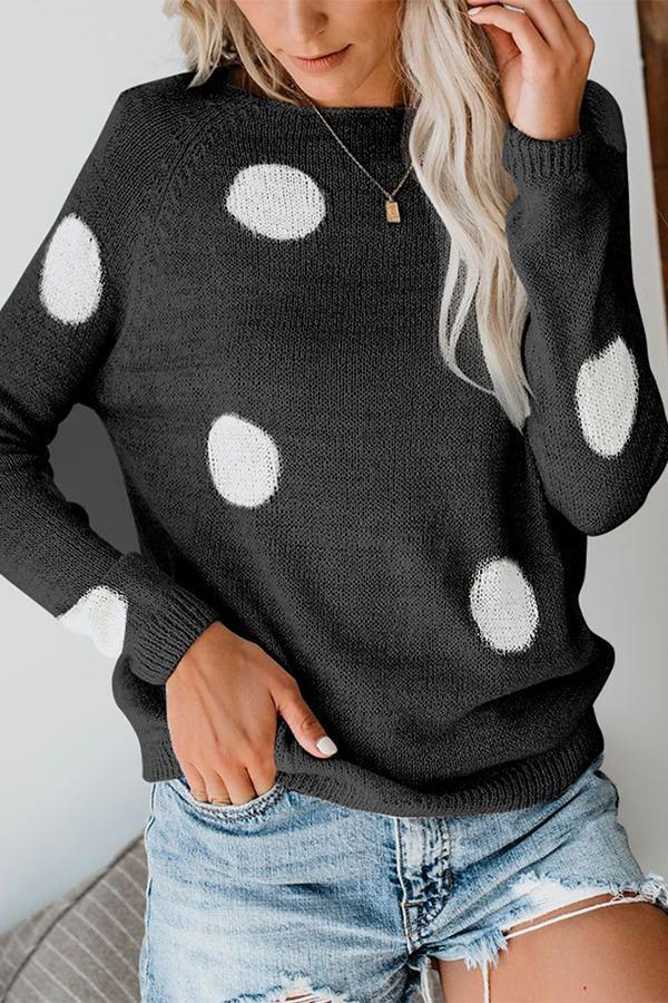 Polka Dot Round Sweater