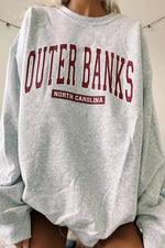 Outer Banks North Carolina Letter Print Casual Women Sweatshirt