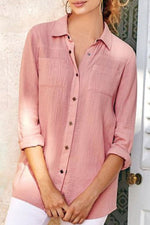 Solid Casual Button Shirt