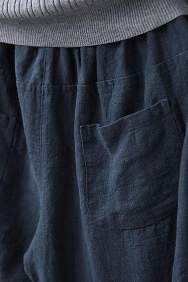 Side Pockets Solid  Pants