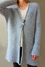 Solid Casual V Neck Long Sleeves Cardigans