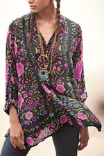 Casual Floral Vintage Long Sleeves Shirt