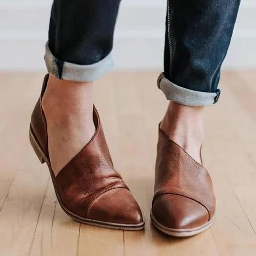 Pointed Toe Slip-on Solid Flats