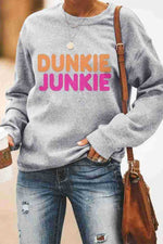 Dunkie Junkie Bold Letter Print Casual Daily T-shirt