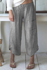 Pockets Design Striped Pants
