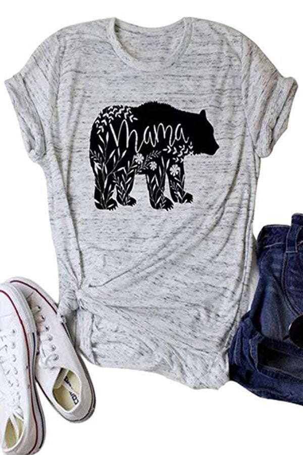 Casual Print Pullover Short Sleeves T Shirt