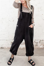 Solid Paneled Casual Pockets Sling Overall Jumpsuit