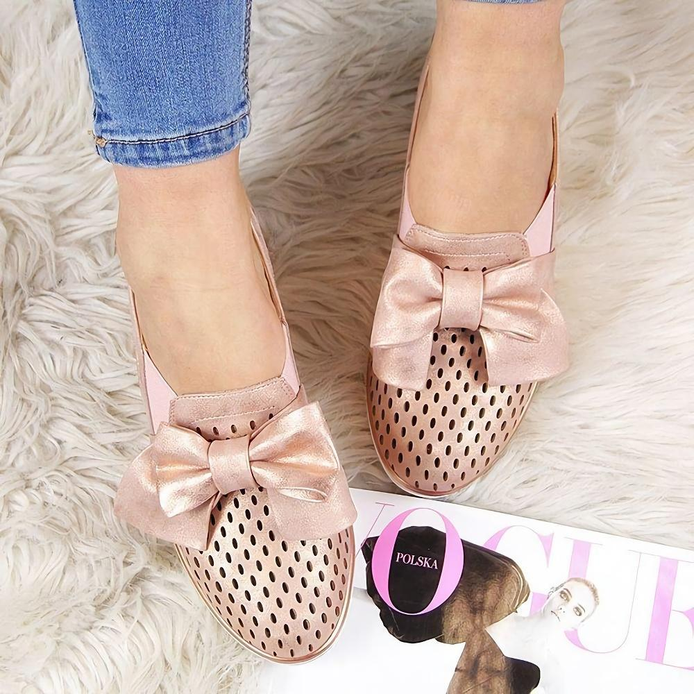 Butterfly Knot Hollow Wedge Flats
