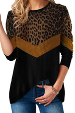 Leopard Round Neck Casual T Shirt