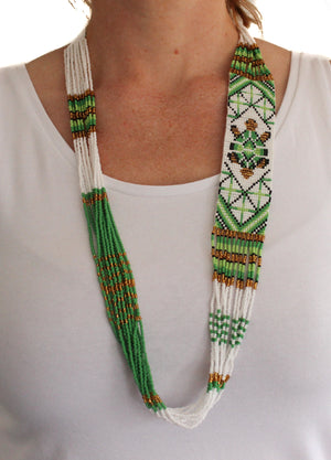 Handmade tribal beaded necklace Nepal