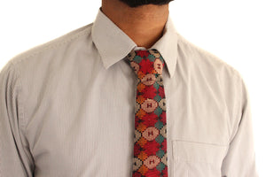 Hipster tie - bohemian fabric