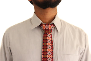 Bohemian hipster woven tie