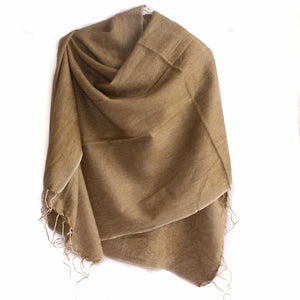 Winter shawl Nepal apple cinnamon colour