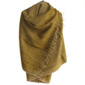 Winter shawl Nepal peridot green