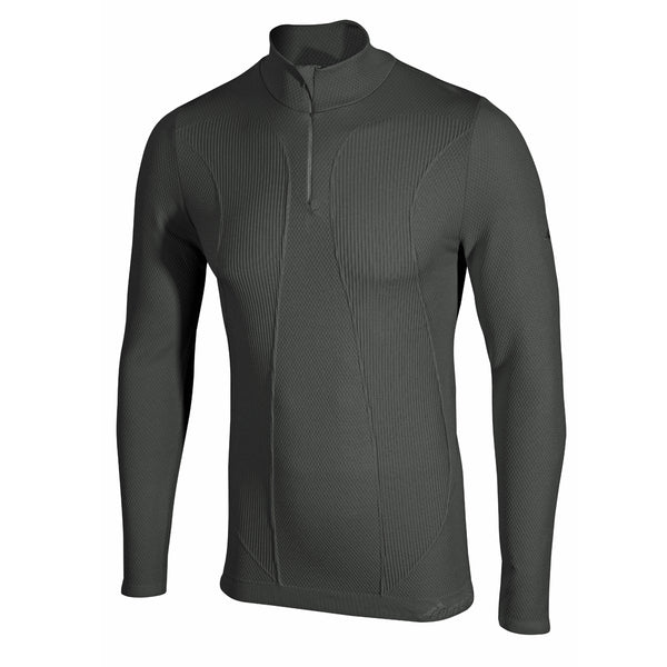 Factor 1 Plus Mens Long Sleeve Zip Neck Base Layer Top