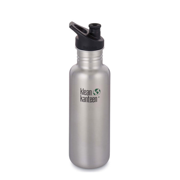 Klean Kanteen Classic Sports Cap Stainless Steel Water Bottles 800ml