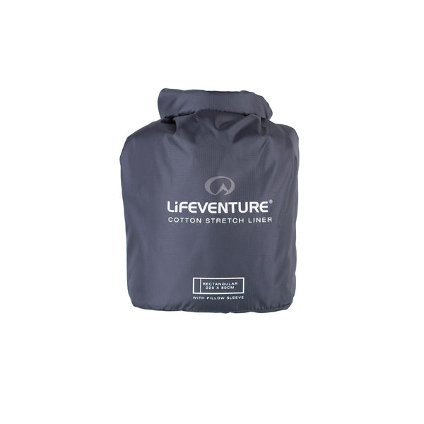 Lifeventure Cotton Stretch Sleeping Bag Liner Rectangular