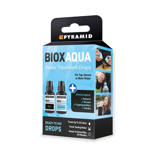Pyramid Bioxaqua Chlorine Dioxide Water Purification Drops