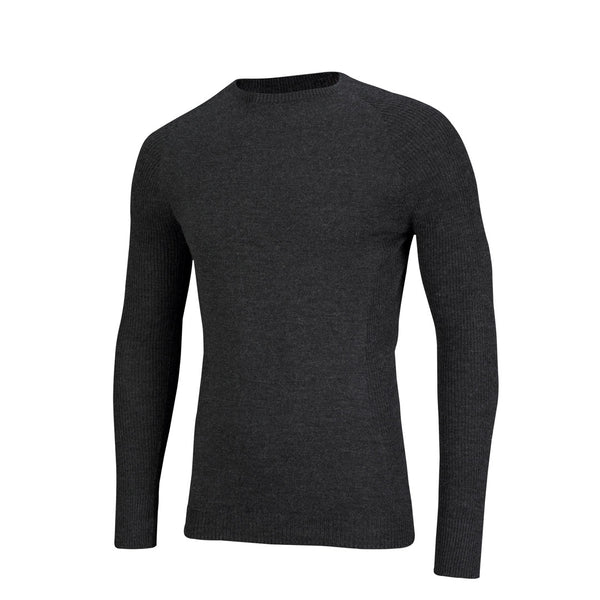 Merino Wool Mens Long Sleeve Mid Layer Top