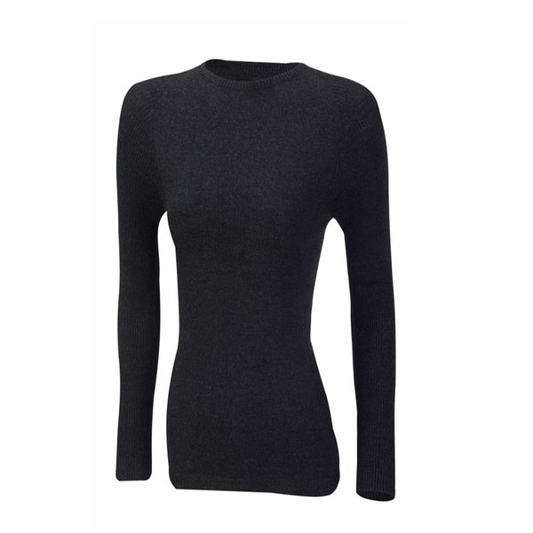 Merino Wool Womens Long Sleeve Mid Layer Top