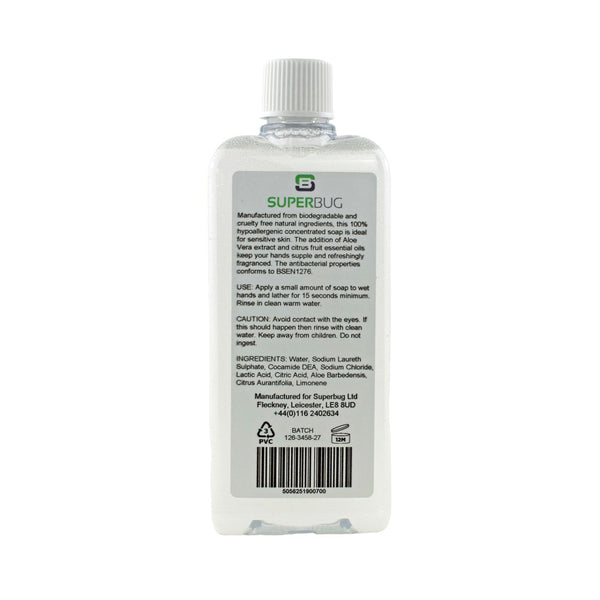 Superbug Liquid Travel Soap With Aloe Vera 100ml