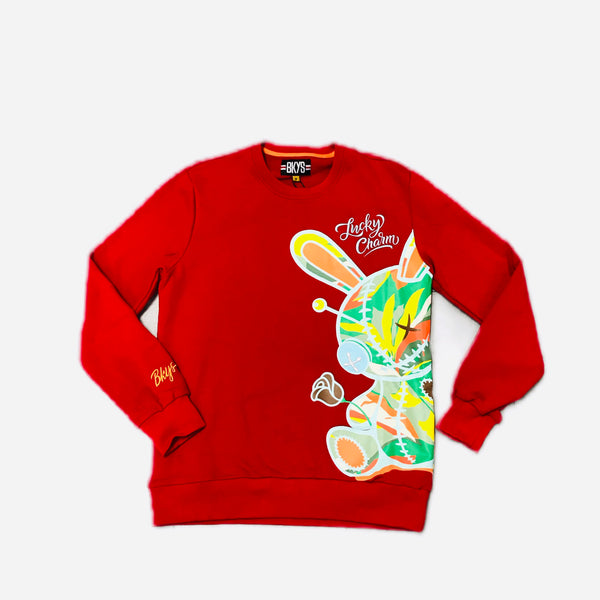BLACK KEYS LUCKY CHARM CREWNECK RED