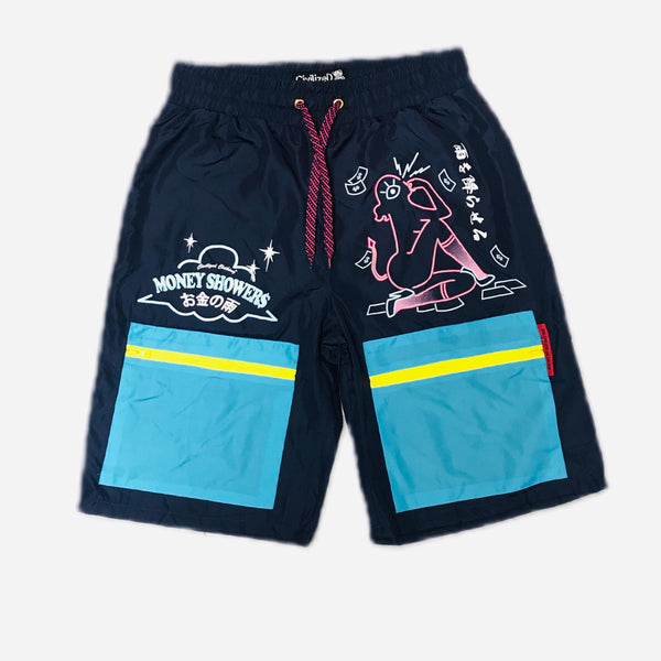 CIVILIZED NYLON WINDBREAKER SHORTS BLUE