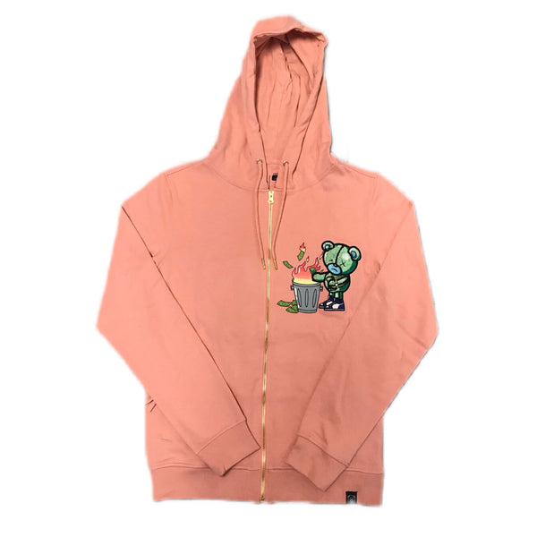 CIVILIZED BURNING MONEY HOODIE PINK