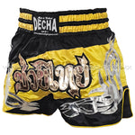 Shorts Muay Thai Decha Fight Gear Negro Amarillo