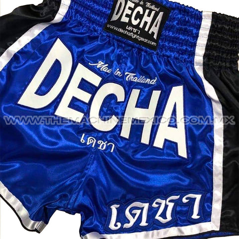 Shorts Muay Thai Retro Decha Limited Edition Azul